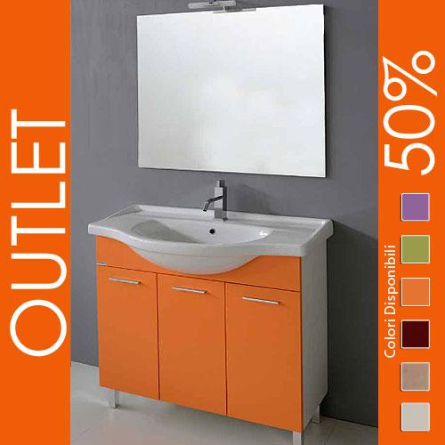 mobile bagno sospeso arancione ~ home design e ispirazione mobili - Arredo Bagno Arancione
