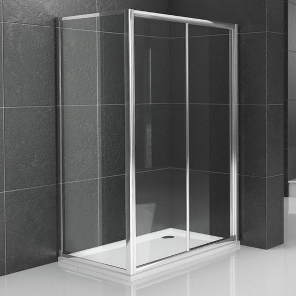 Pareti doccia lato fisso 80 per porta scorrevole slide duo - Porta scorrevole per bagno ...