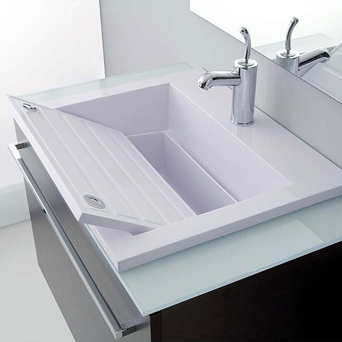 Lavatoi in ceramica lavabo zeus 80 - Lavandino bagno da incasso ...