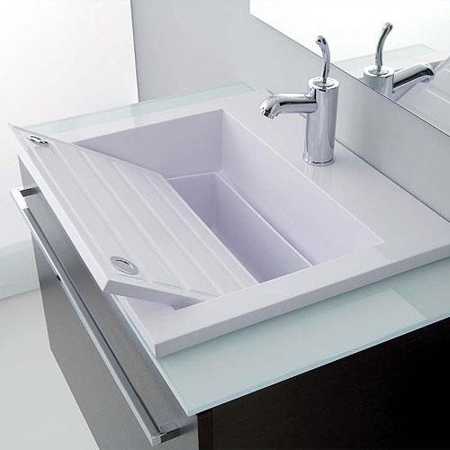 Lavatoi in ceramica lavabo zeus 60 - Lavandino bagno da incasso ...
