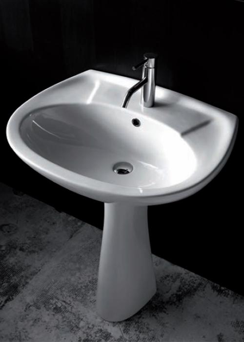 Lavabi su colonna lavabo con colonna iseo 64 - Lavabo con colonna ...