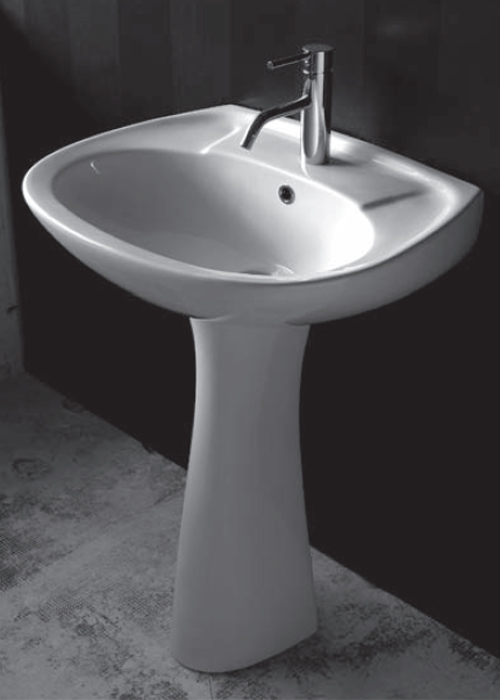 Lavabi su colonna lavabo con colonna iseo 60 - Lavabo con colonna ...