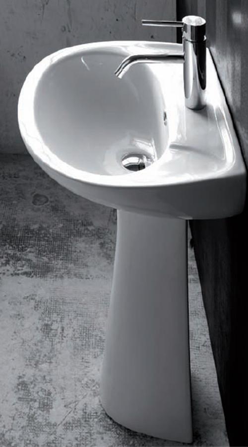Lavabi su colonna lavabo con colonna iseo 50 - Lavabo con colonna ...
