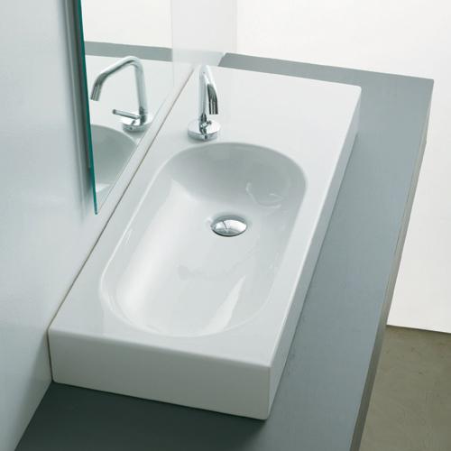 Lavabi appoggio lavabo da appoggio ovo square 70 sx for Lavabo da appoggio misure