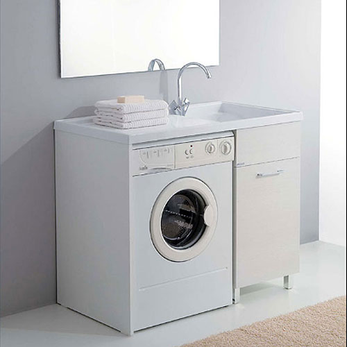 Lavatoio in acrilico e mobile 106x60...