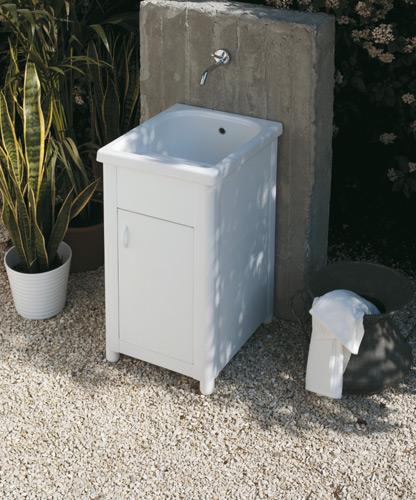 Lavatoi per esterno : Lavatoio per esterno in Ceramica Corallo 45x51
