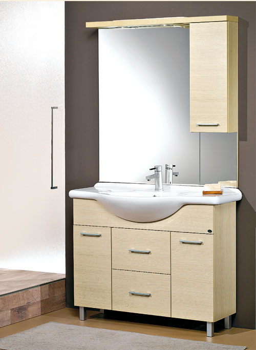 mobili bagno economici mobile bagno 105 cassandra con cassetto