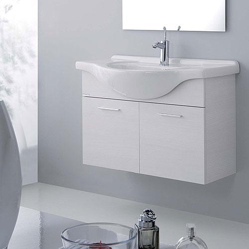 Mobili bagno : mobile bagno orchidea sospeso 85 bianco rigato
