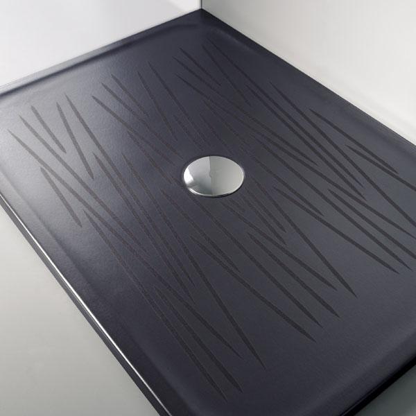 Piatti doccia rettangolari piatto doccia nero filo 100x70xh4 - Piatto doccia nero ...