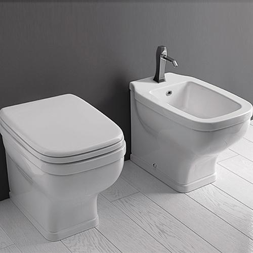 Sanitari bagno a terra / pavimento - Wc e Bidet in coppia  Jo Bagno Valdama