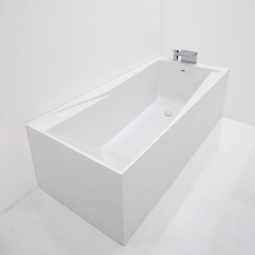 Vasche rettangolari vasca rettangolare in pietraluce oz - Misure vasche da bagno rettangolari ...