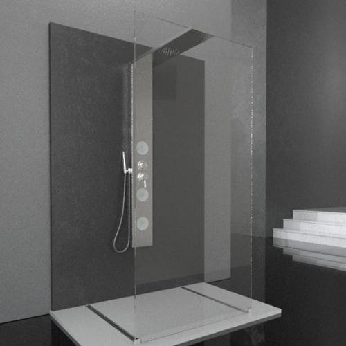 Pareti Doccia : Colonna doccia con parete cristallo Bora/90