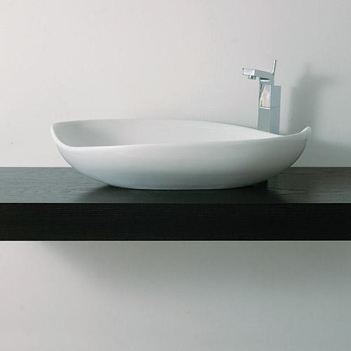 Piano e mensola da appoggio per lavabo bagno jo for Top per lavabo da appoggio ikea