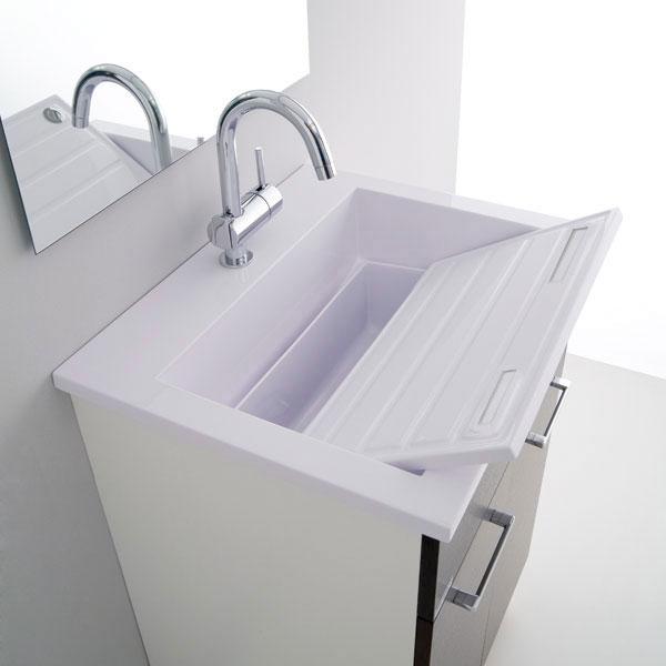 Lavatoio e mobile 60x50 zeus arredo lavanderia jo - Lavandino da incasso bagno ...