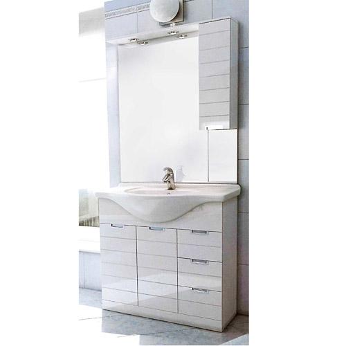 Mobili bagno economici mobile bagno rigo 85 con specchio for Specchio bagno mobile