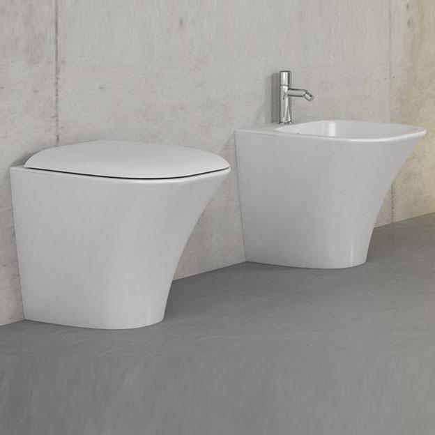 Sanitari bagno a terra pavimento wc e bidet in coppia jo bagno - Misure sanitari bagno ...