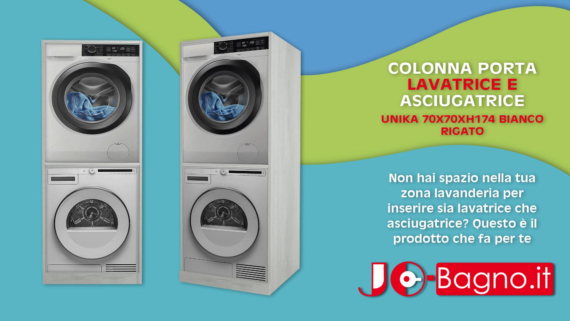 Mobile Per Asciugatrice Esterno colonna lavatrice-asciugatrice unika 70x70