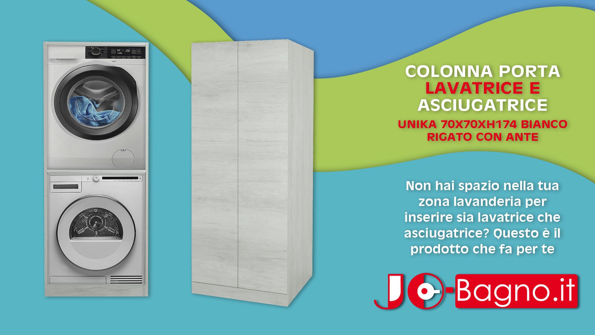 Colonna Per Lavatrice E Asciugatrice colonna lavatrice-asciugatrice unika 70x70 con ante