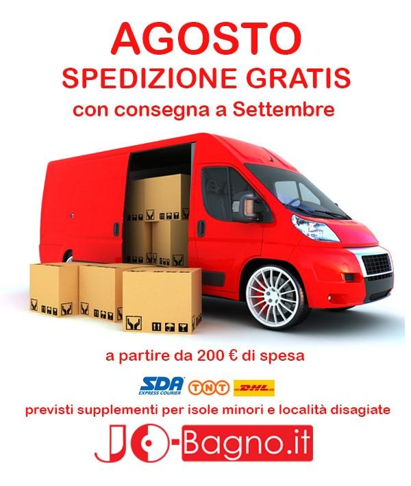 Per tutto il mese di Agosto - Spedizione Gratuita per importi superiori ai 200 Euro