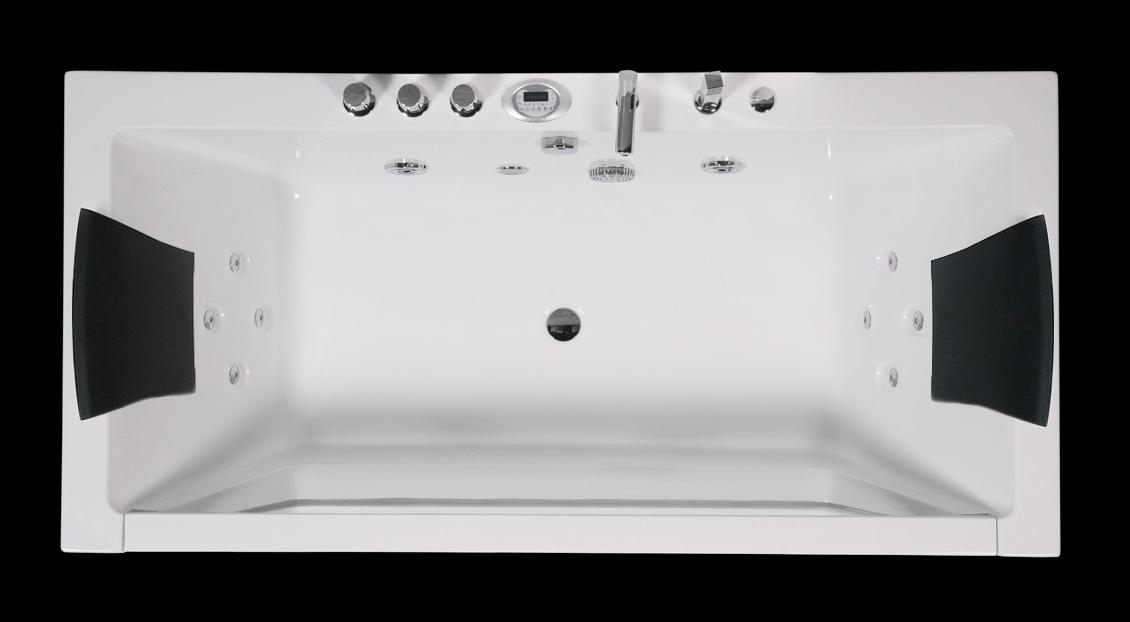 Vasche rettangolari vasca idromassaggio rettangolare 185x90 luxury - Misure vasche da bagno rettangolari ...