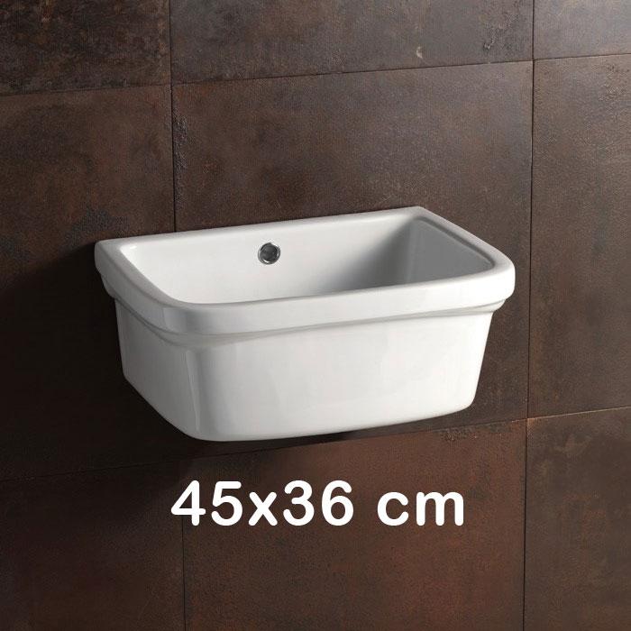 Lavatoi in ceramica vasca lavatoio 45x36 for Vaschetta da esterno