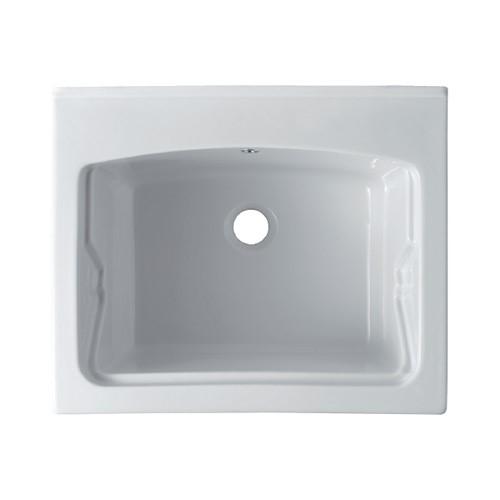 Vasca lavatoio in ceramica 60x50 reno da incasso jo - Accessori bagno in ceramica da incasso ...