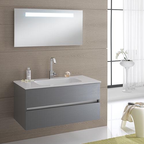 Arredo bagno moderno arredo bagno sospeso bali 100 platino finitura twister - Mobili bagno moderni sospesi ...