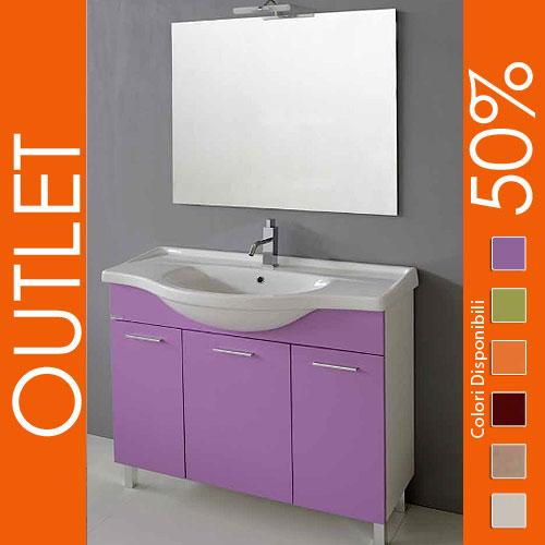 outlet : arredo bagno 105 lilla - Outlet Arredo Bagno