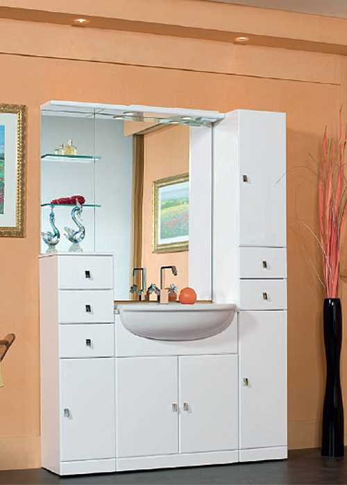 el 19 mobile arredo bagno design l136 cm personalizzabile compab ...