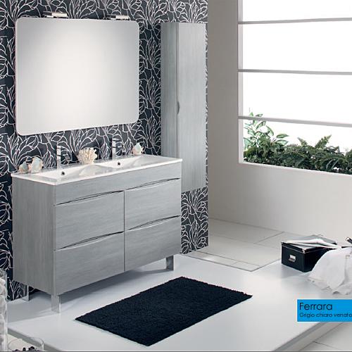 Arredo bagno moderno arredo bagno ferrara grigio chiaro 120 for Foto arredo bagno moderno