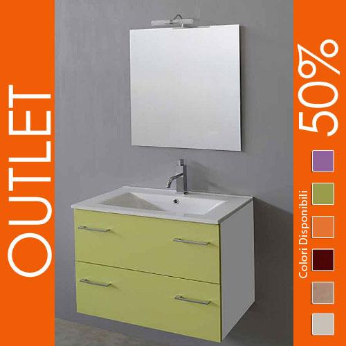 Outlet: Arredo bagno sospeso 70 Verde Mela