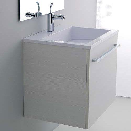 Mobili bagno base lavabo 60x48 zeus bianco rigato for Mobile lavello bagno