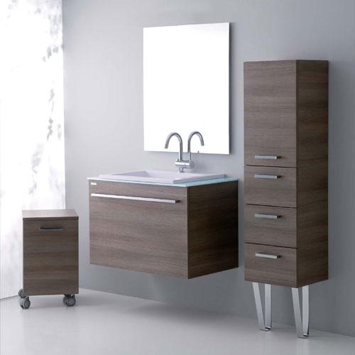 mobili bagno : arredo bagno sospeso zeus 80 caffè - Arredo Bagno Sospeso