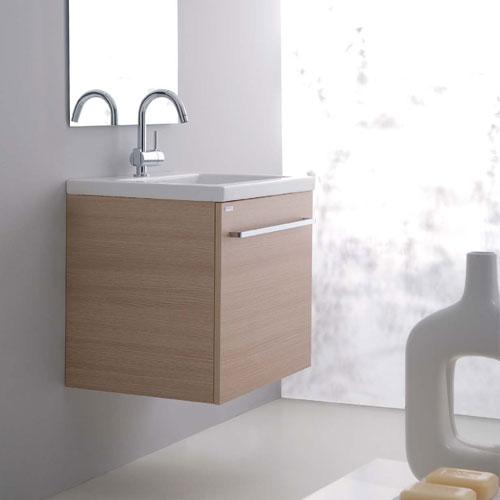 Mobili bagno: Base Lavabo 60x48 Aurora Rovere Sbiancato