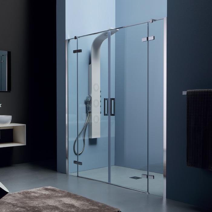 Box doccia nicchia box doccia nicchia porta battente - Doccia senza porta ...