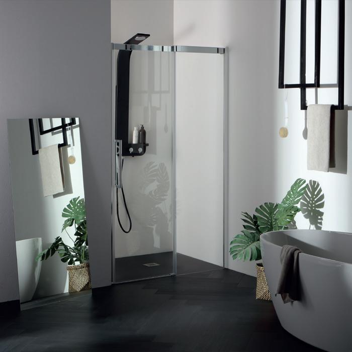 Box doccia nicchia box doccia nicchia porta scorrevole 6psc15n - Porta scorrevole per doccia ...