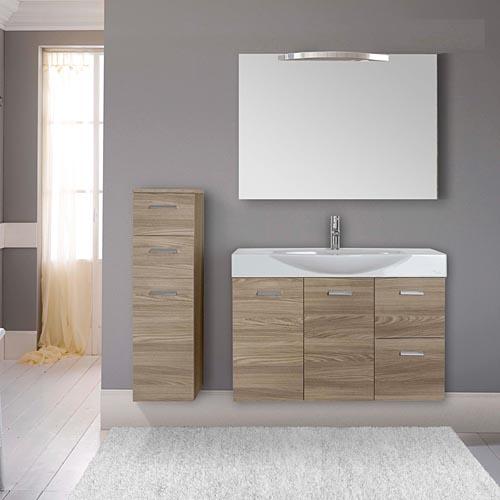 mobili bagno economici : mobile bagno sospeso chiara 105 2 ante - Arredo Bagno Moderno Economico