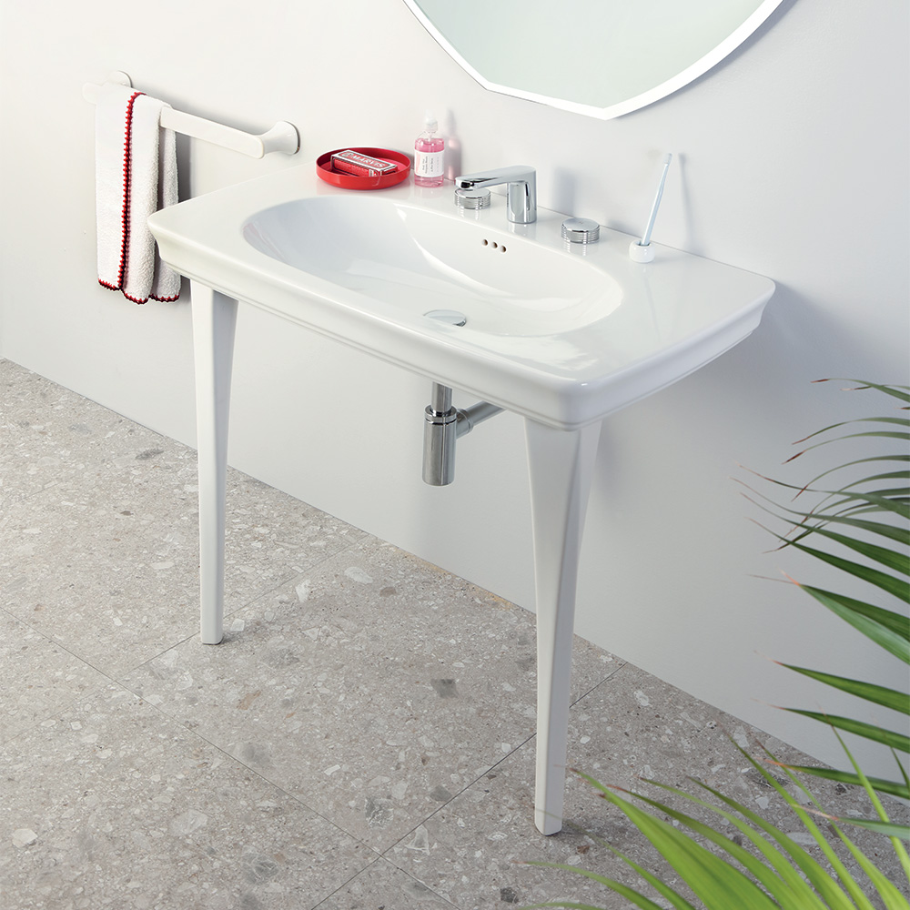 Consolle In Ceramica Per Bagno.Consolle Con Gambe In Ceramica 90x50 Civitas
