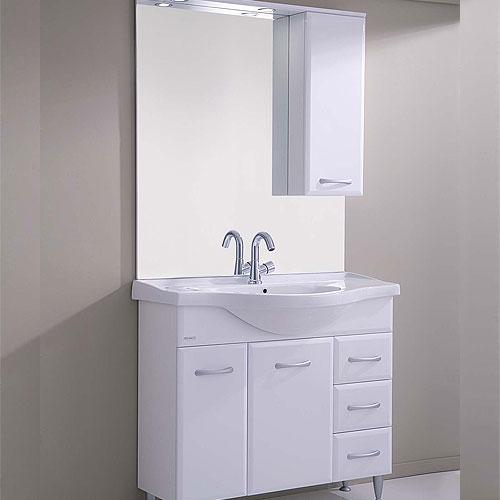 arredo bagno economico : arredo bagno cigno 105 bianco lucido - Composizione Bagno Economico