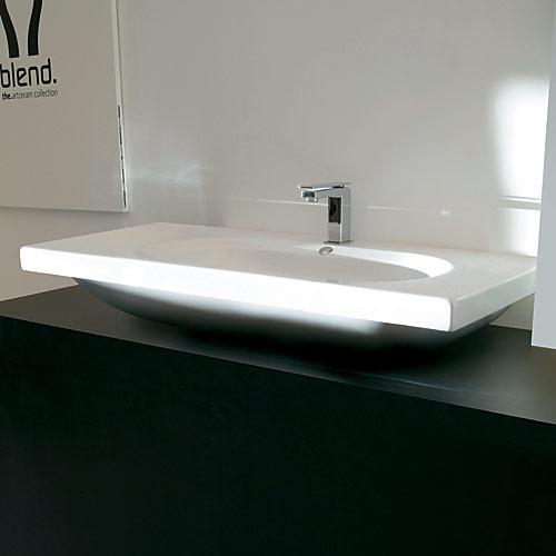 Lavabi sospesi consolle appoggio 106 blend for Consolle bagno