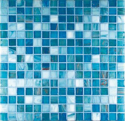 Mosaici in vetro mosaico in vetro g2 azzurro mix - Mosaico azzurro bagno ...