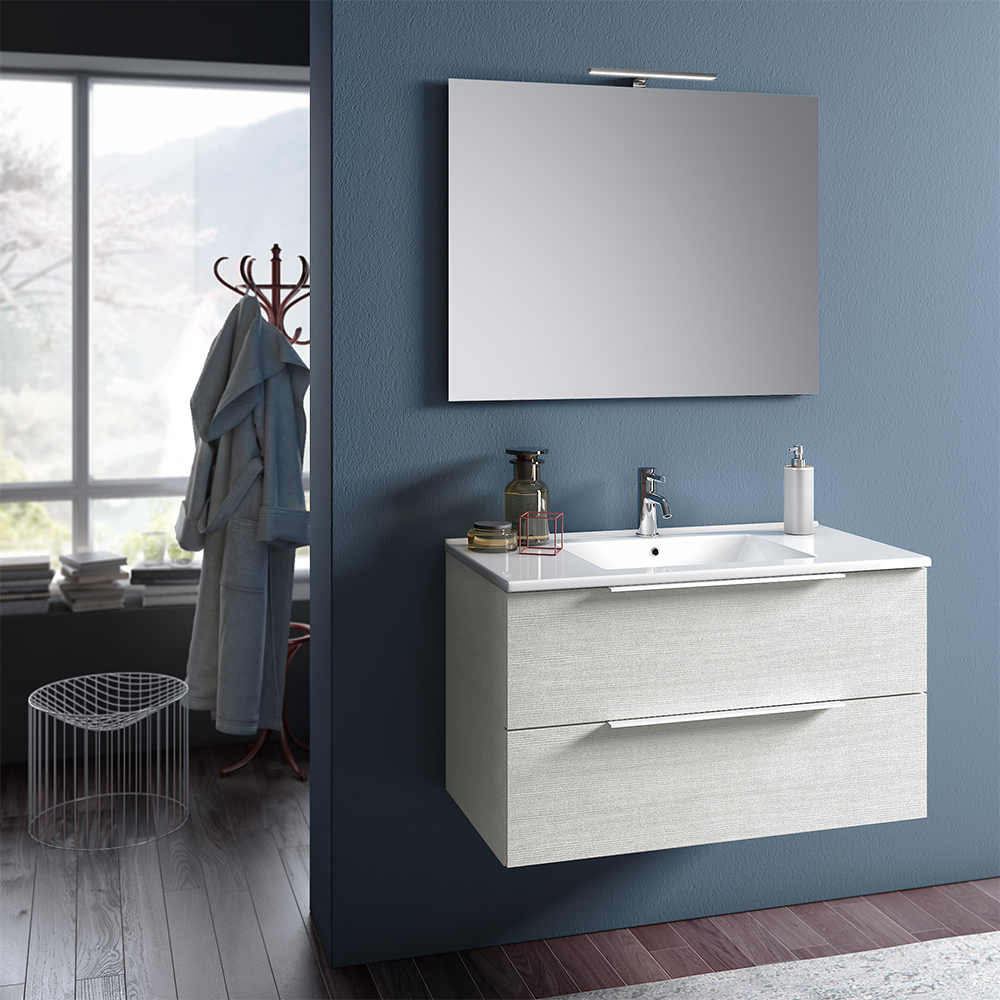 Mobile Bagno Moderno 80 cm Luna Offerta On Line | TFT Home Forniture