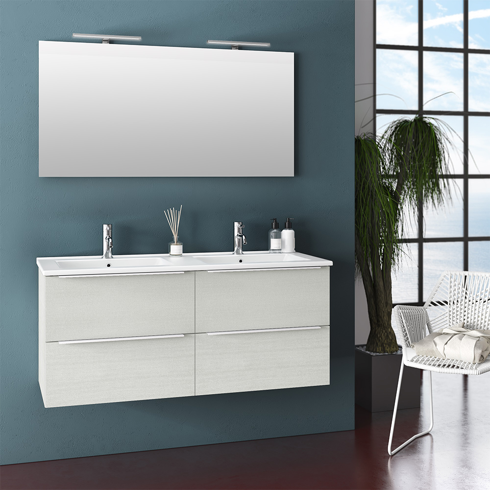 Mobile Bagno Moderno 120 cm Luna Offerta On Line | TFT Home Forniture