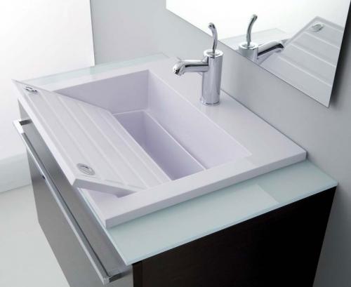 Lavatoi in ceramica lavabo zeus 60 - Due lavandini bagno ...