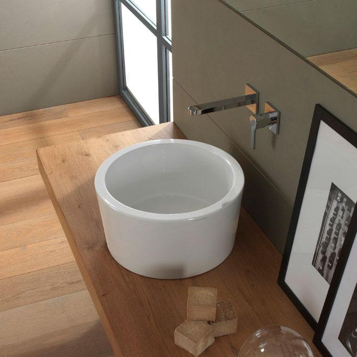 Lavabi appoggio lavabo appoggio bucket 35 h22 for Lavabo da appoggio misure