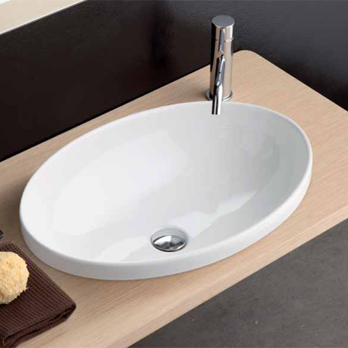 Lavabi incasso lavabo softly 60 incasso ovale for Lavabo softly