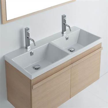 Consolle bagno lavabo tight 121 doppia vasca - Misure lavabo bagno ...