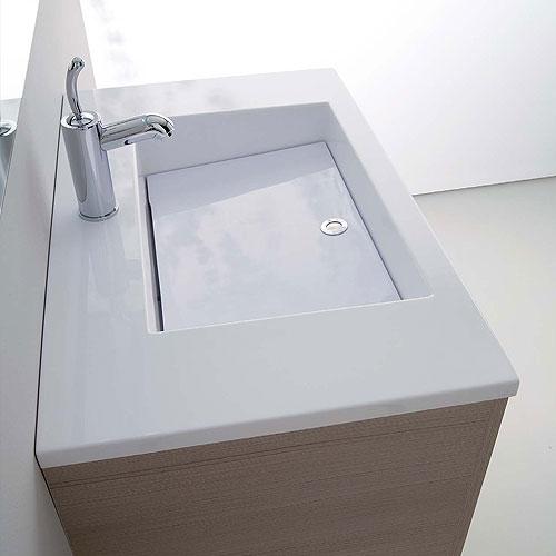 mobili bagno : mobile bagno con lavabo zeus 80 - Mobili Bagno Con Lavabo Da Incasso