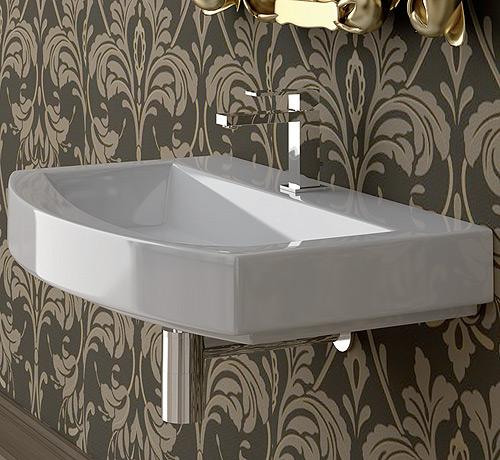 lavabo sospeso moon asimmetrico : Lavabo sospeso Moon 60 valdama ceramica