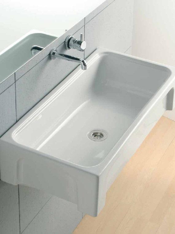 Lavatoi in ceramica lavabo a canale adda 90x45 - Misure lavabo bagno ...